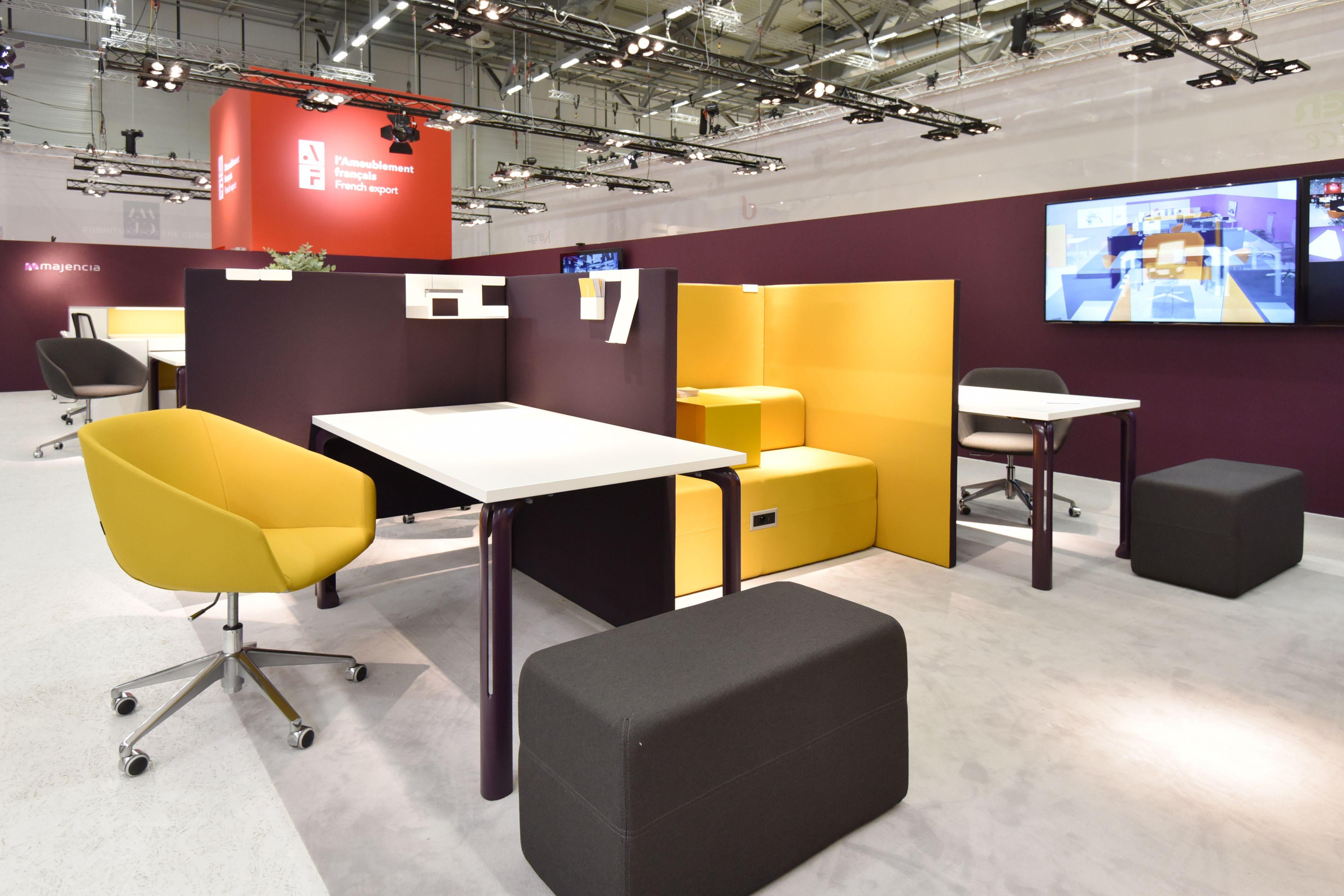 Majencia a pr sent sur son stand un dynamik workspace for Mobilier bureau qualite