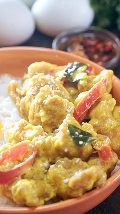 Ayam Saus Telur Asin Resep Resep Ide Makanan Resep Makanan Masakan Simpel