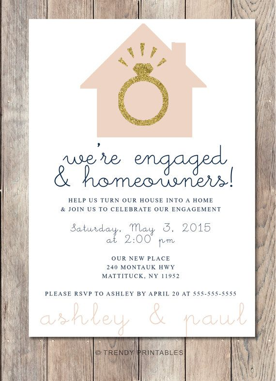 Engagement Party Invitation Housewarming By TrendyPrintables