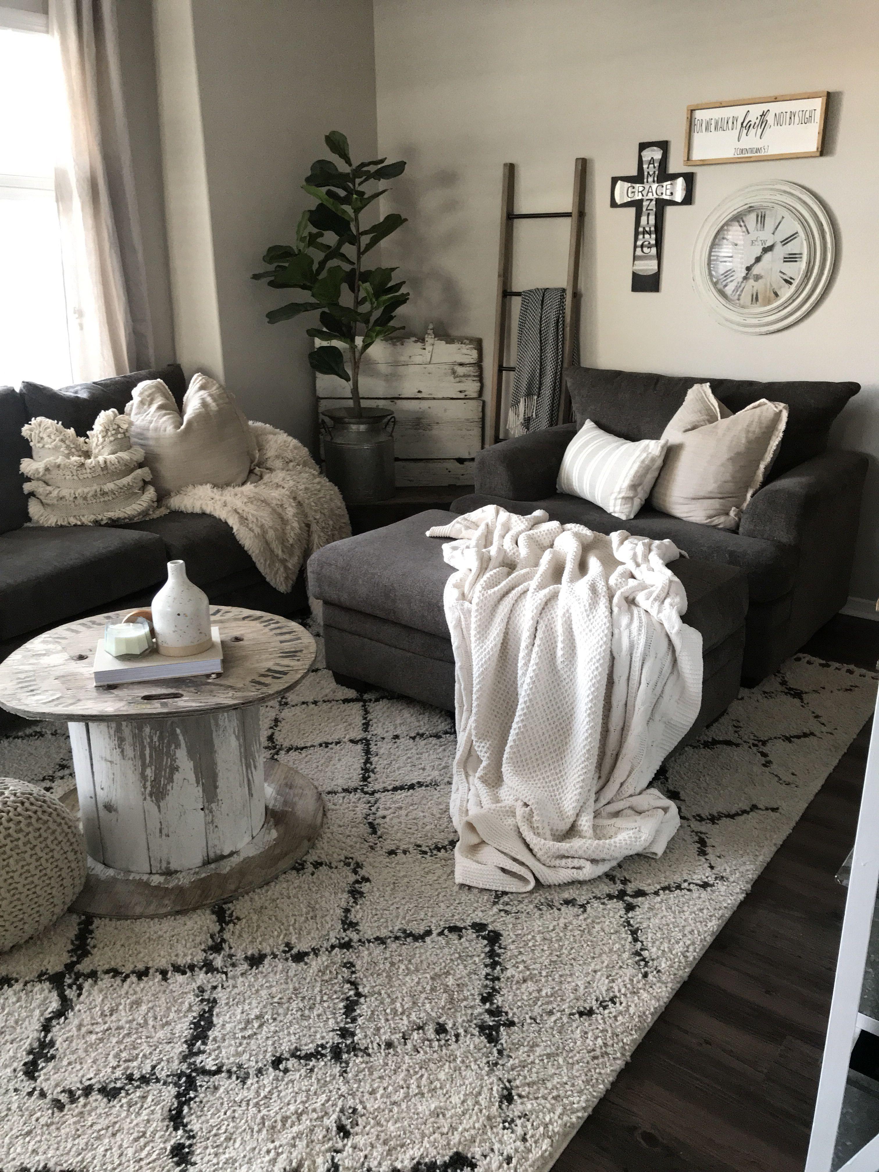 Cozy, rustic, boho living room. | My Small Space | Boho ...