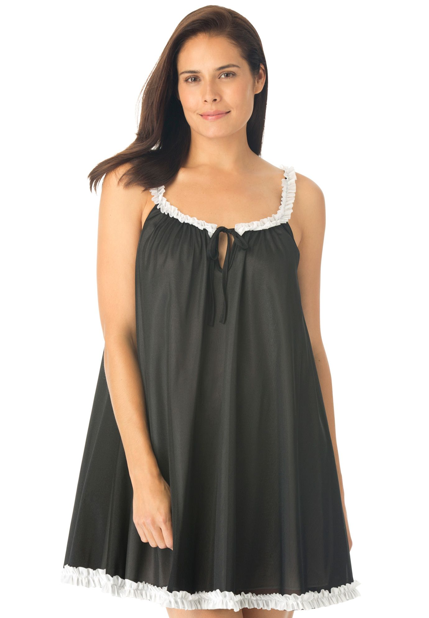 Tricot Babydoll Sleep Gown By Amoureuse Plus Size Nighties
