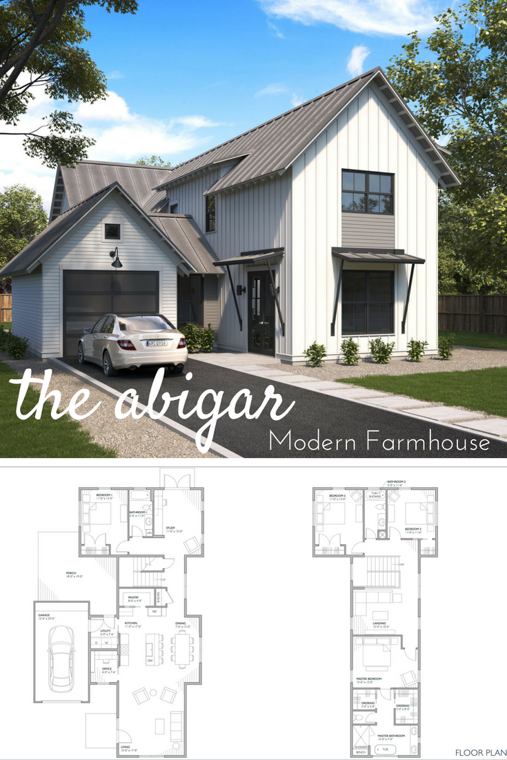 Great Two Story Modern Farmhouse Home Farmhouse Plans For Sale Open Floor Plan In 2020 Modern Farmhouse Floorplan Modern Farmhouse Plans Narrow Lot House Plans