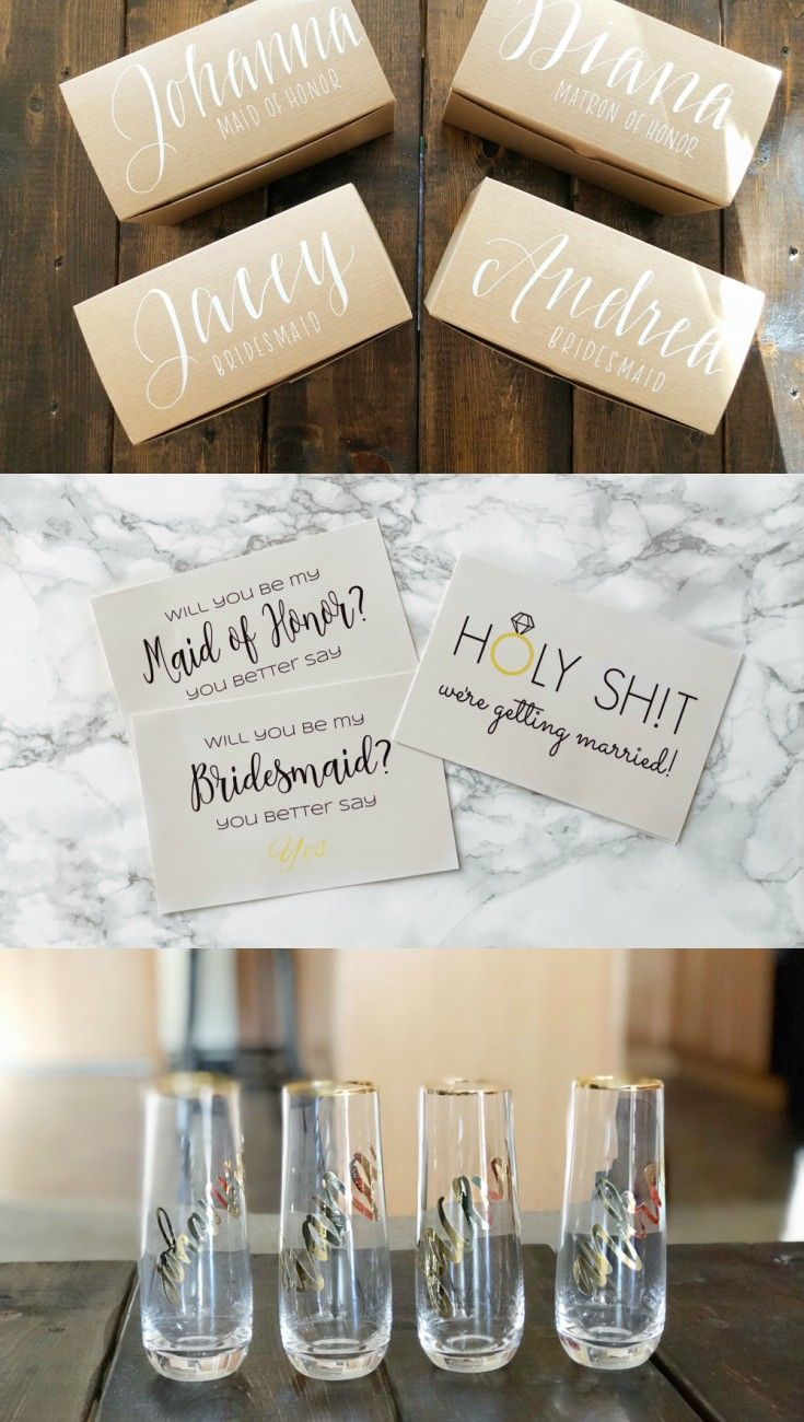 My Bridesmaids Said YES | Bridesmaid proposal gifts, Proposals and ...