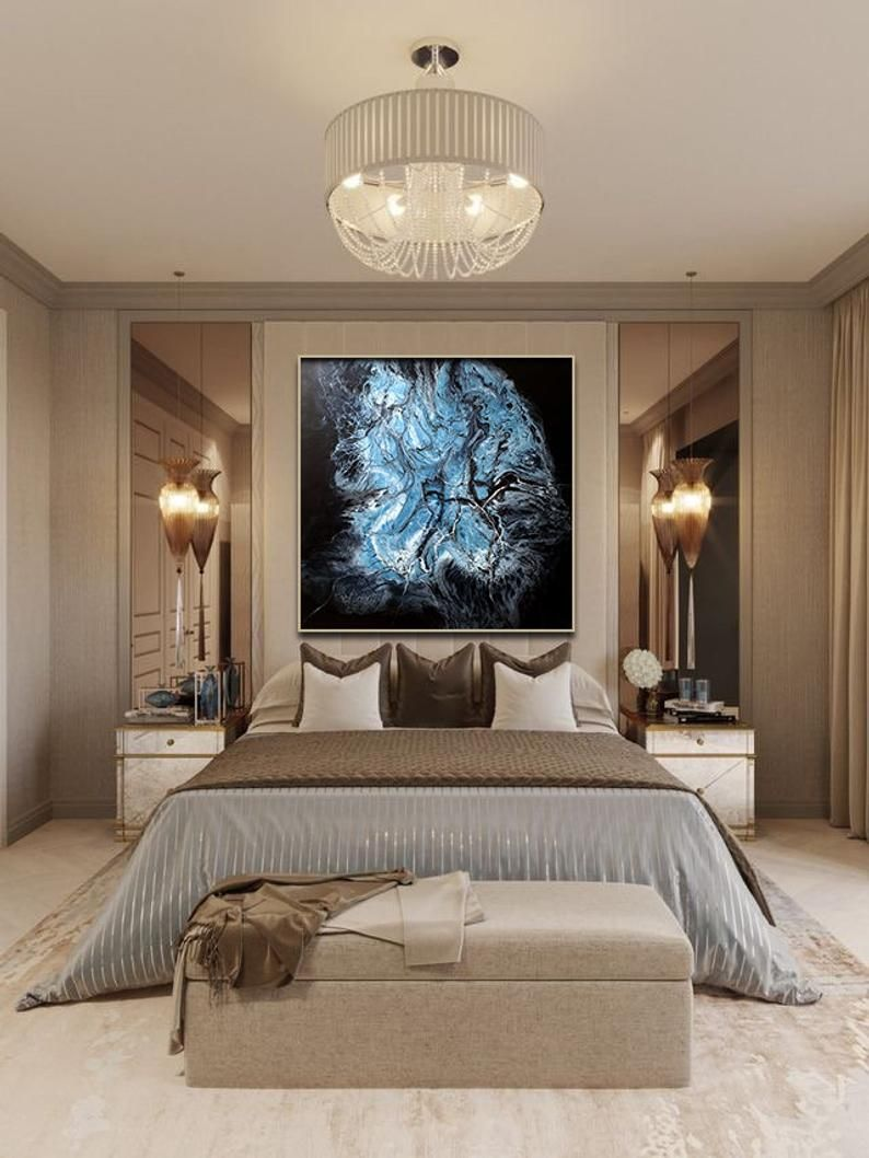 Canvas Paintingoriginal Abstract Paintingacrylic Large Etsy In 2020 Luxury Bedroom Master Bedroom Layouts Luxurious Bedrooms