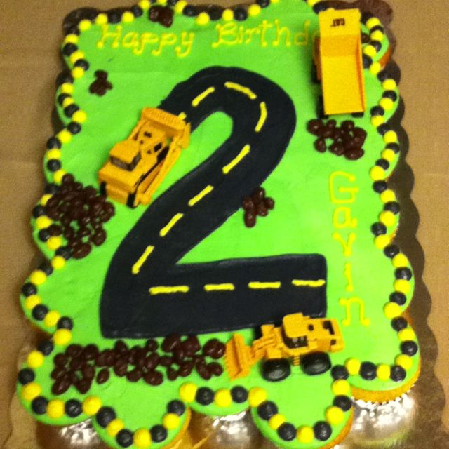 A tractor cake for Gavin's 2nd  birthday  made by Liz. Cuter in real life