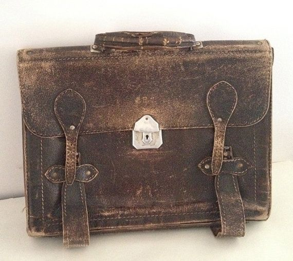 1950's Vintage Australian leather briefcase soft by Cyclopaedia