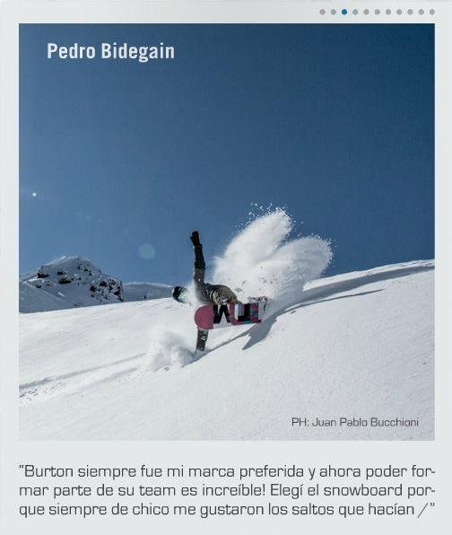 El genio de Pedro Bidegain retratado por Juampi Bucchioni para el snow dream team de Burton Argentina /