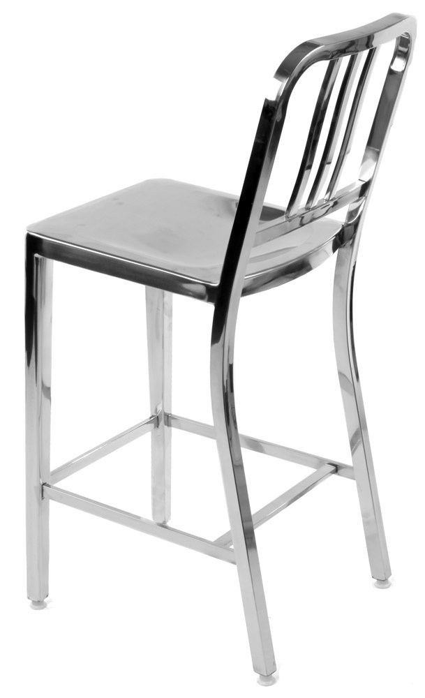 Replica Emeco Us Navy Stool Polished Stainless Steel