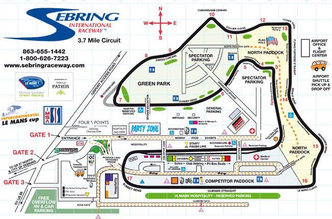 Sebring International Speedway Sebring Florida A Great