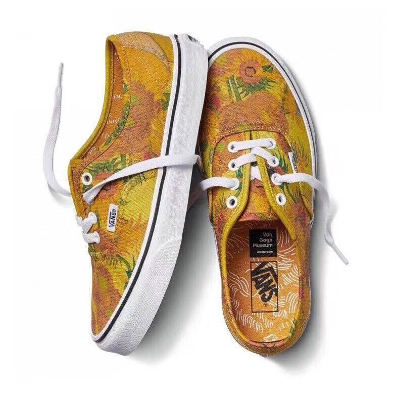 Vans X Van Gogh Museum Sunflowers Slip On Old Skool Shoes Sunflower Vans Aesthetic Shoes Yellow Vans