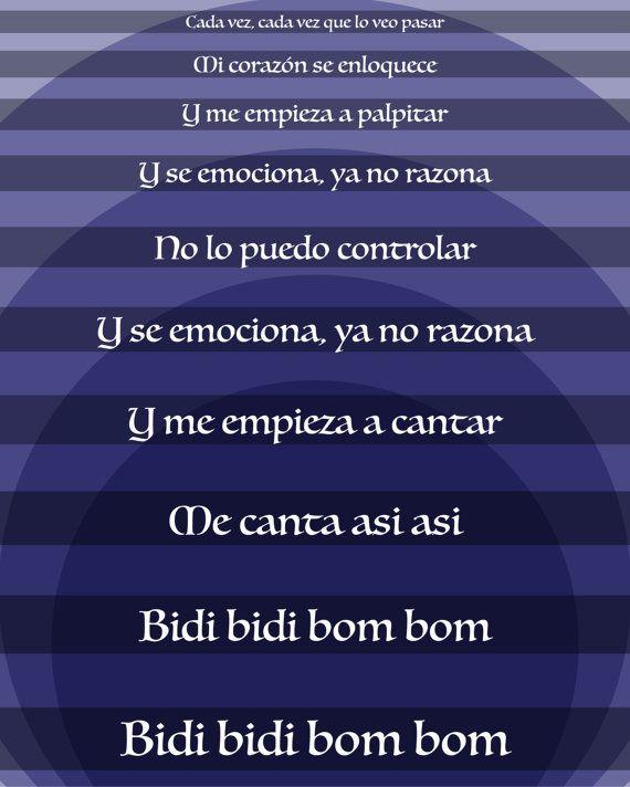 Selena Quintanilla Bidi Bidi Bom Bom Song Lyric Artwork Print Custom Design Gift For Fans Of Selena Quintanilla Song Lyrics Art Song Quotes Nineties Music