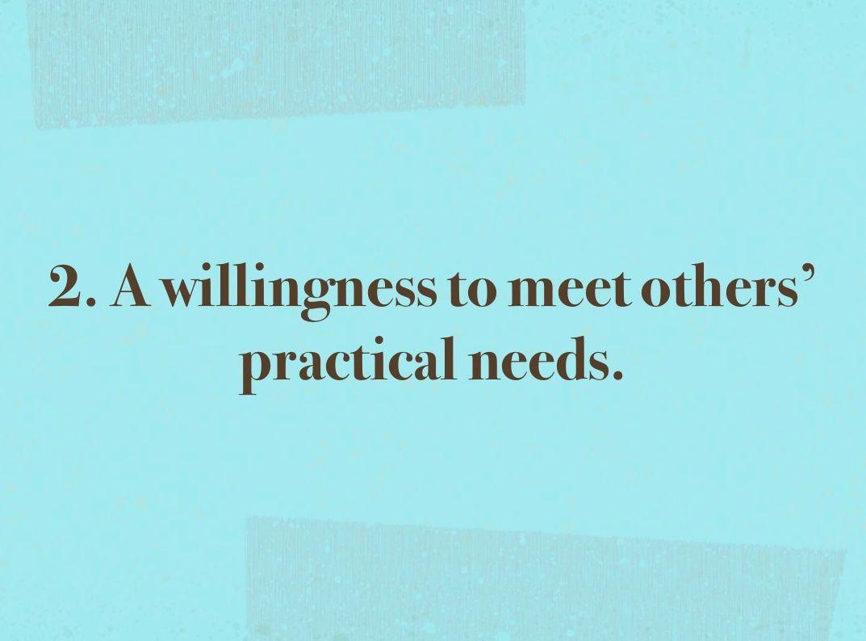 Meeting practical needs