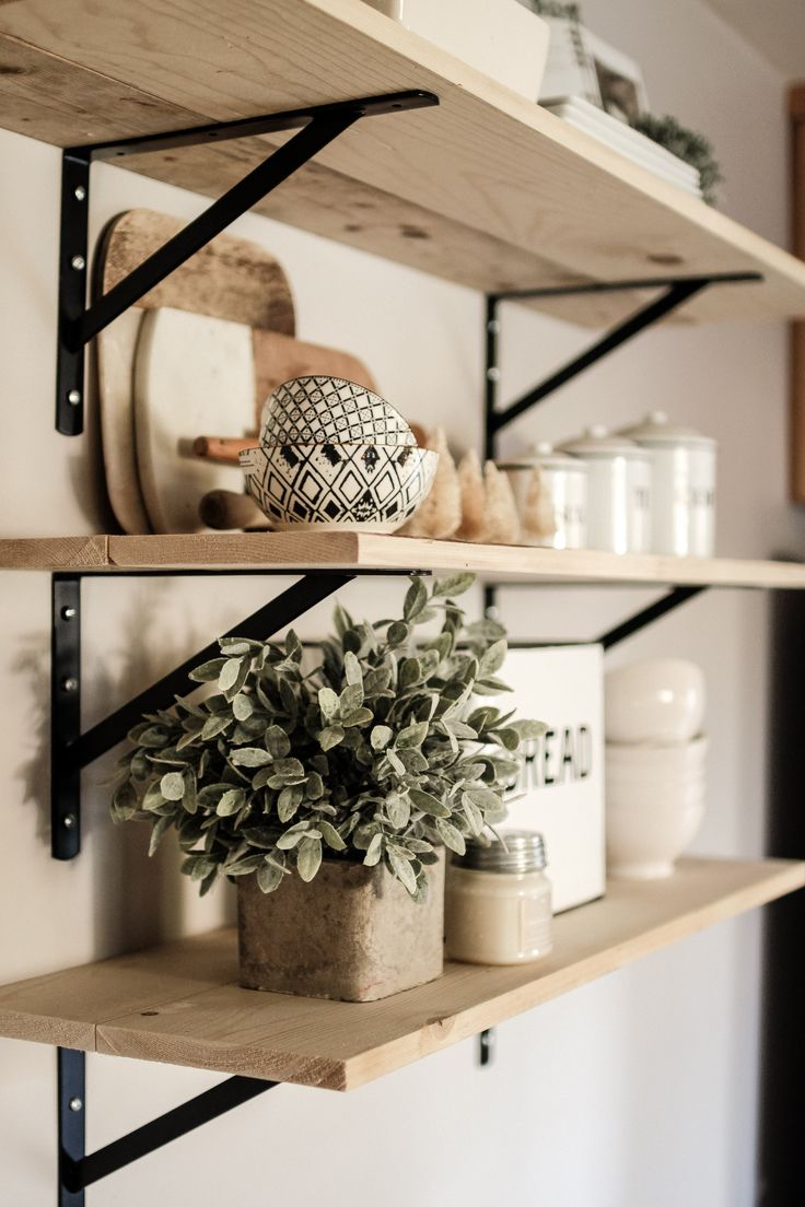 How To Style A Shelf En 2020 Etagere Murale Cuisine Decoration