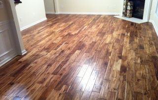 Natural Acacia hardwoods bring a lot of character to a