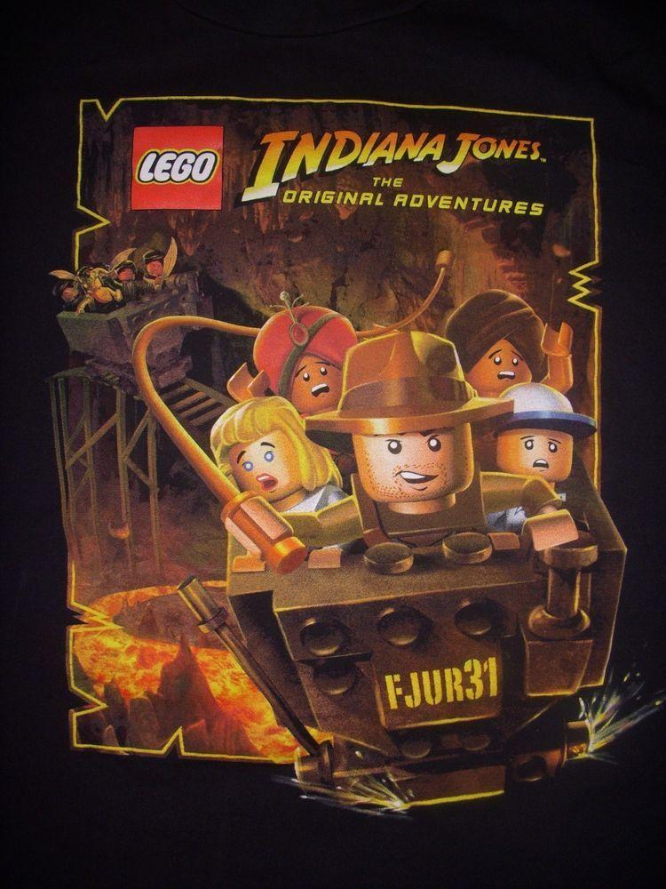 indianjones birthday party invitations printable%0A Lego Indiana Jones The Original Adventures Black Tshirt XL