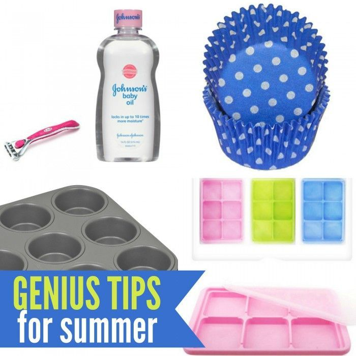 Genius Summertime Tips #geniusmomtricks Genius Summertime Tips #geniusmomtricks