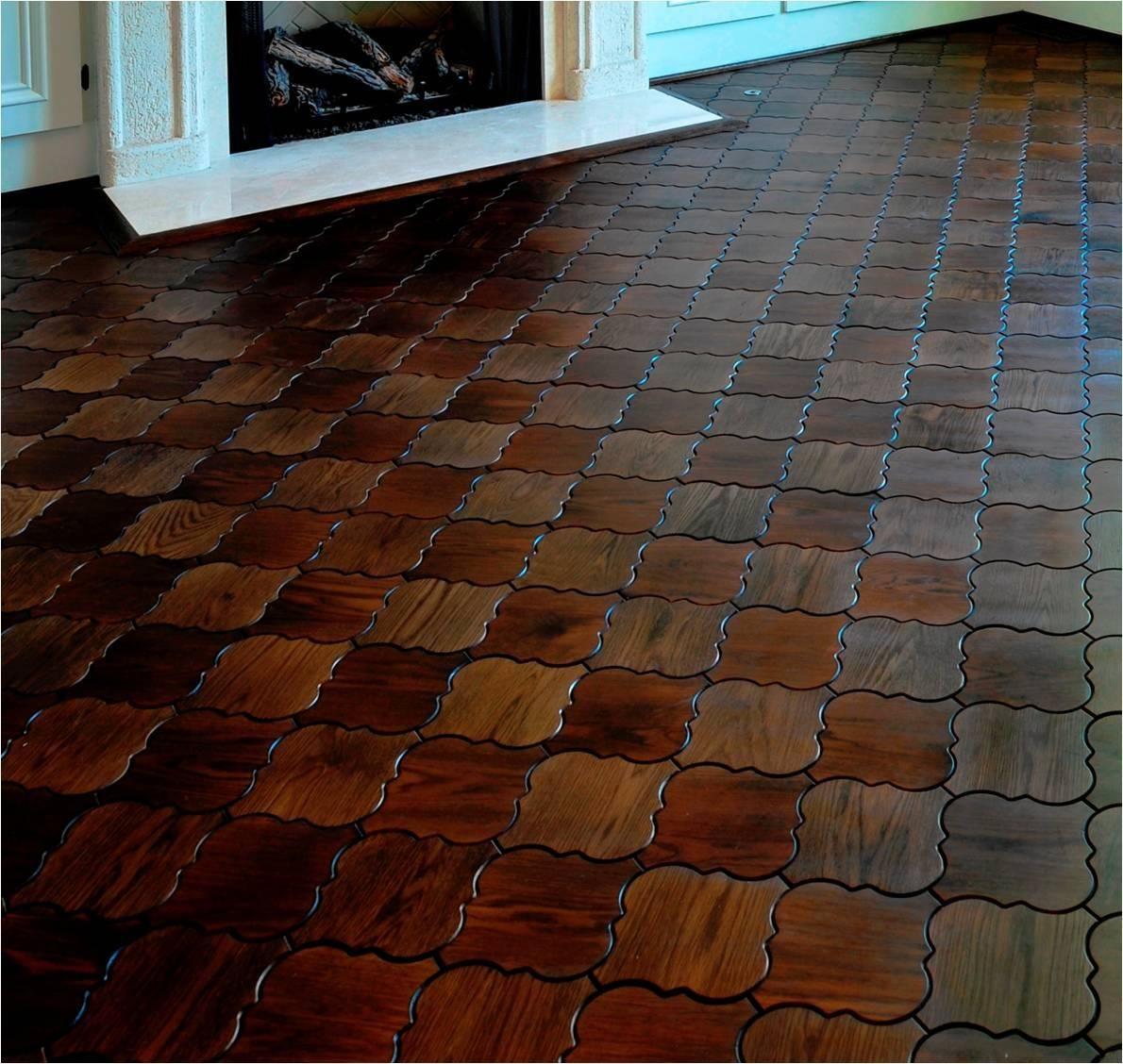 moroccan wood floor tiles sextant pattern pisos madera