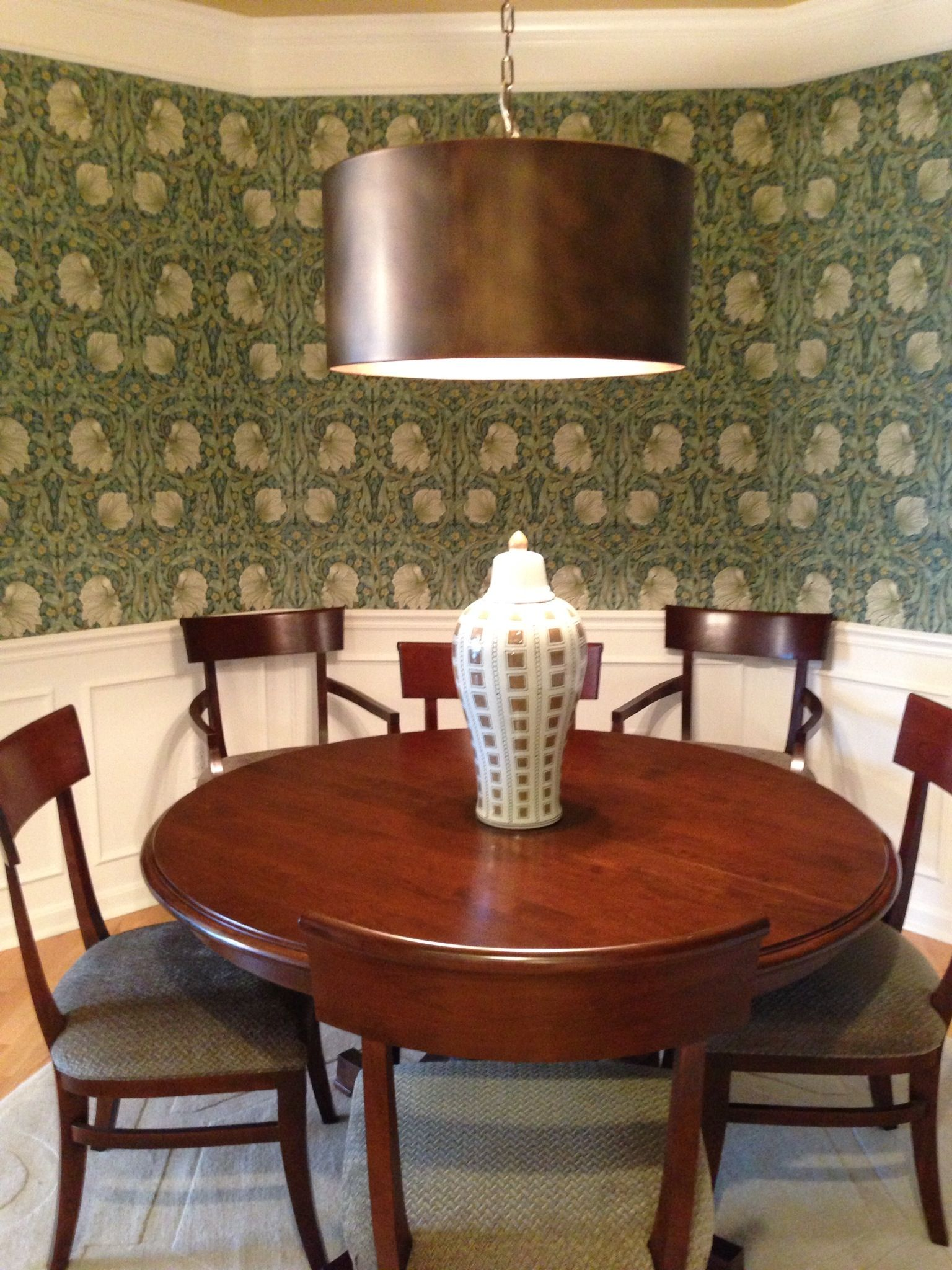 dining room william morris pimpernel 1 wallpaper client cc