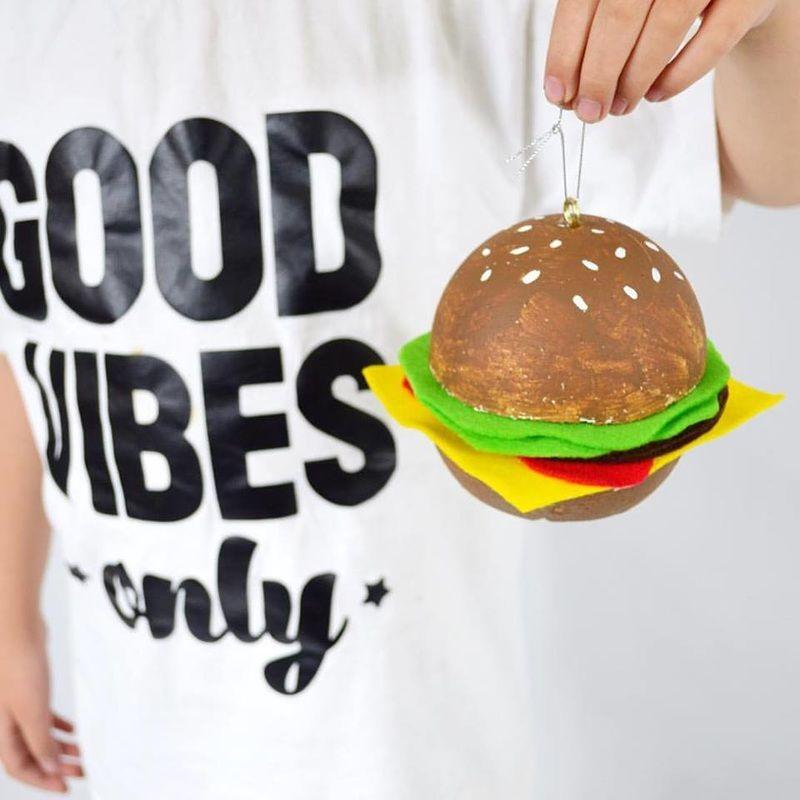 DIY Hamburger Ornament by Aww Sam