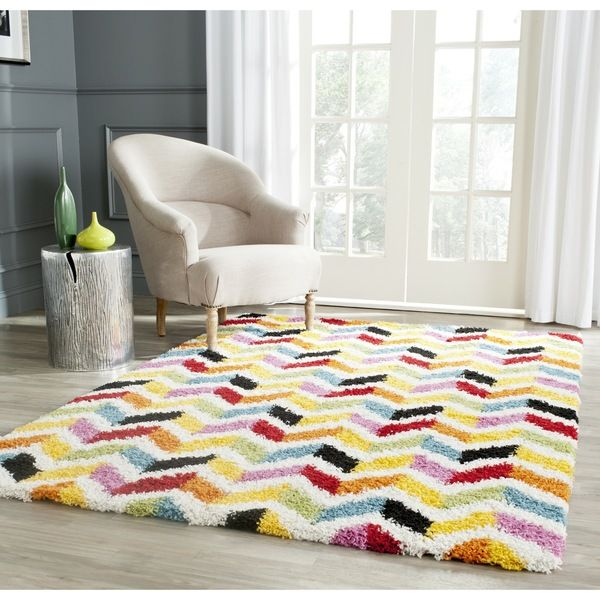 Fun Safavieh Kids Shag Ivory Multi Rug 8 6 X 12 Playroom