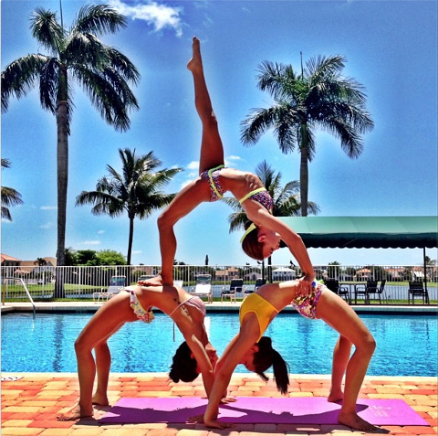 gymnasticsthe pool  cheerleading stunt cheer stunts