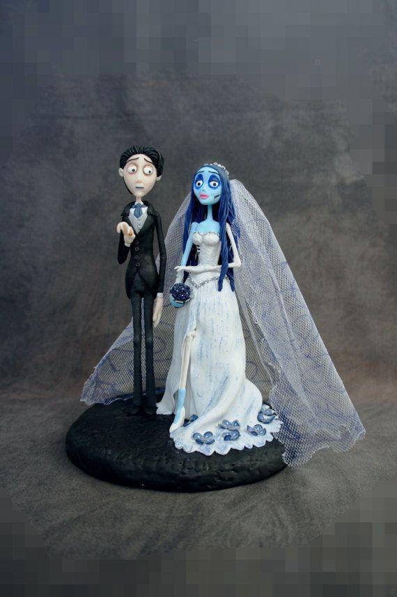 Corpse Bride Wedding cake topper Handmade Cake Topper Tim Burton ...