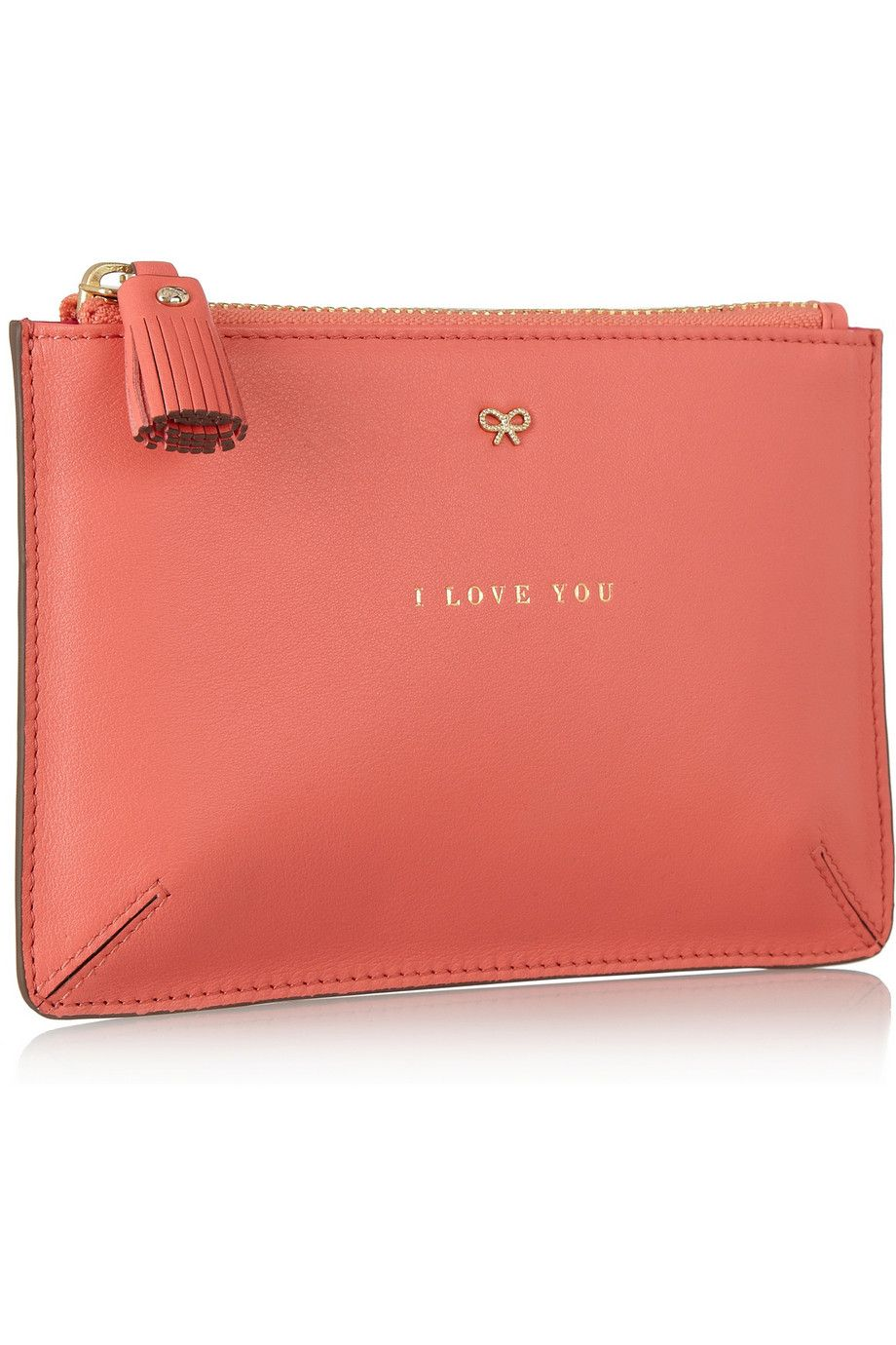 Anya HindmarchI Love You leather pouch