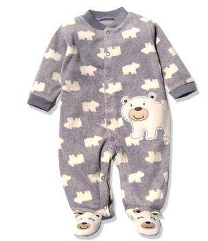 9668b0fee Macacão bebe, pijama bebe Carter's Baby Footies,Baby Fleece Footie Button  Pajamas in Winter, Wholesale Baby Clothing Boys Girls,Long Sleeve Baby  Jumpsuits