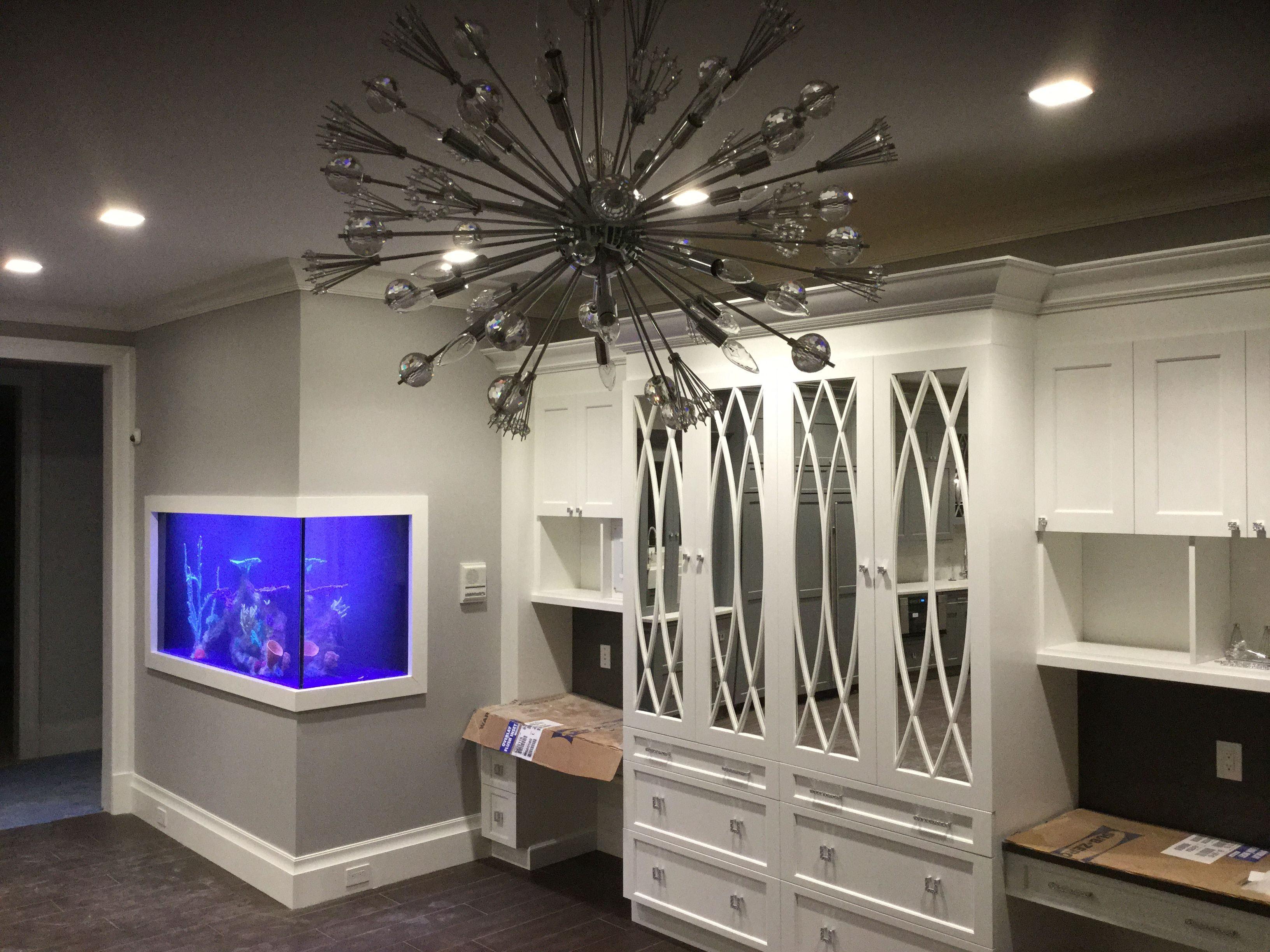 Design done right by Aqua Creations of Lakewood NJ this glass fish