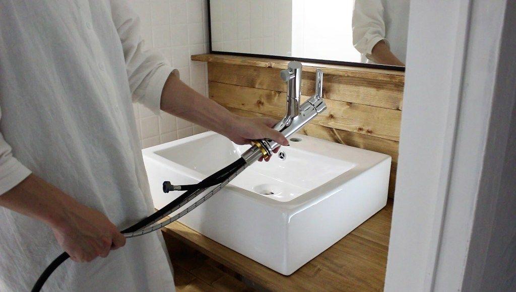 Diyで洗面化粧台を交換 洗面ボウルでおしゃれな洗面台を自作して洗面所をリフォーム Diy Magazine 2021 洗面台 洗面 洗面所
