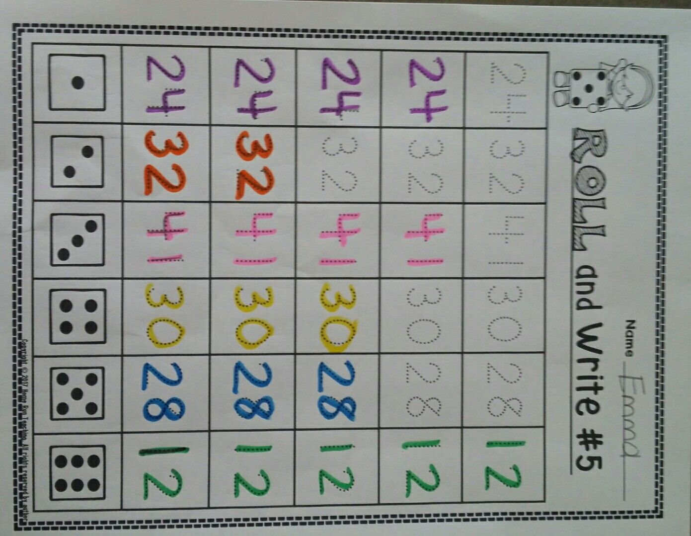 Numbers 11 50 Writing Number Correspondence And Identify