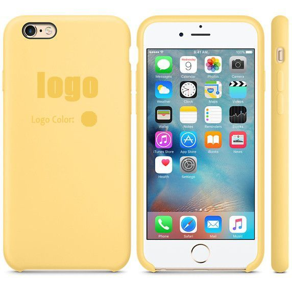 14 colors with logo! for apple iphone 6S 6S plus 2016 New Elegant luxury 1:1 official Copy Ultra slim Silicon Hard case cover