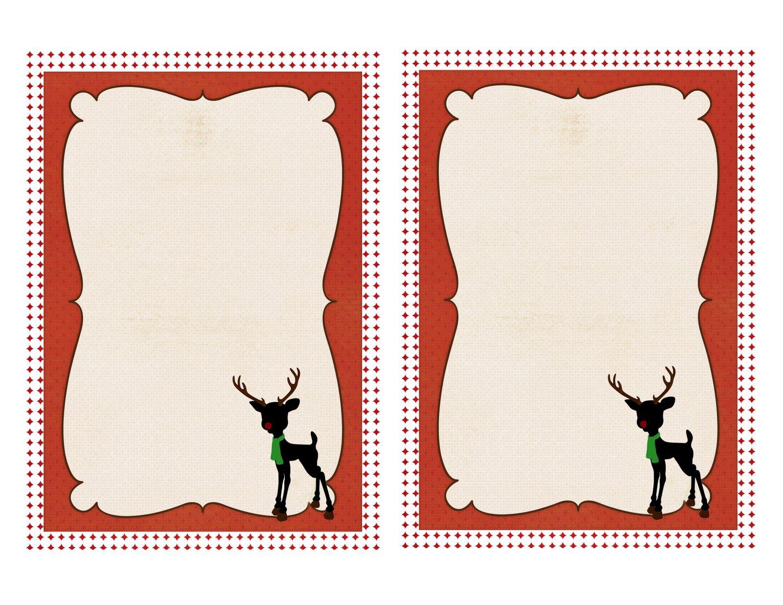 Christmas Printable Note Card