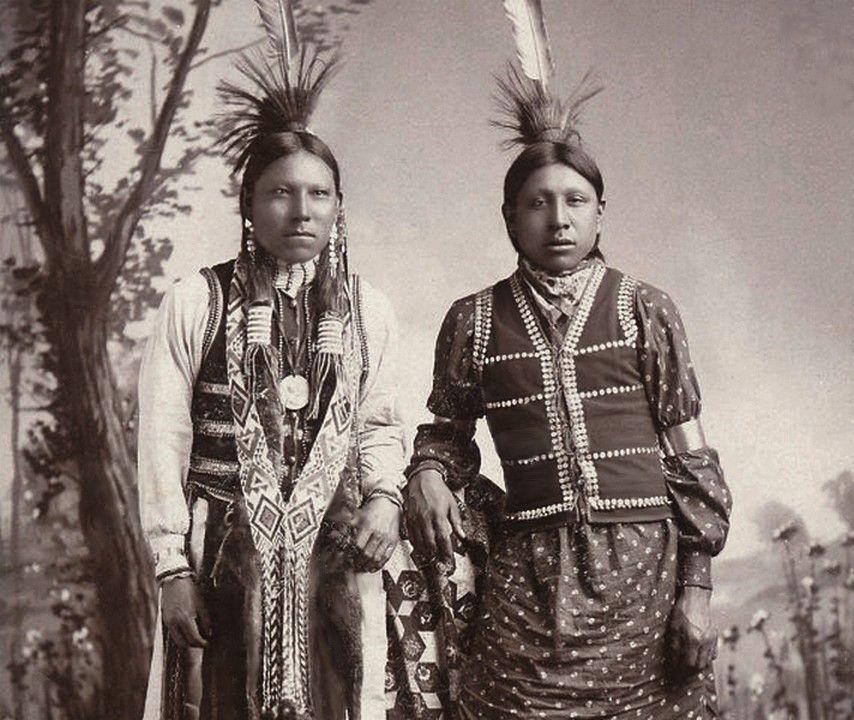 Bear Man & Rambler. Native Americans, Oklahoma Territory ...