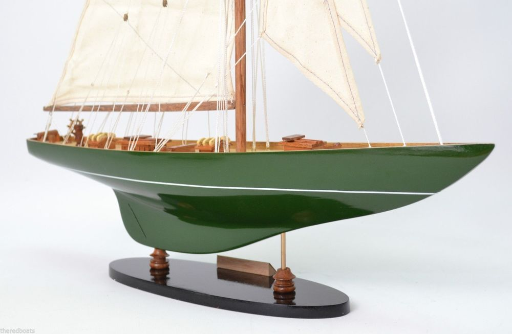 America S Cup Sailing Yacht Shamrock Green 26 Nautical Decoration Model Nauticalhandcrafts Model Sailboat Model Sailboats Model Ships