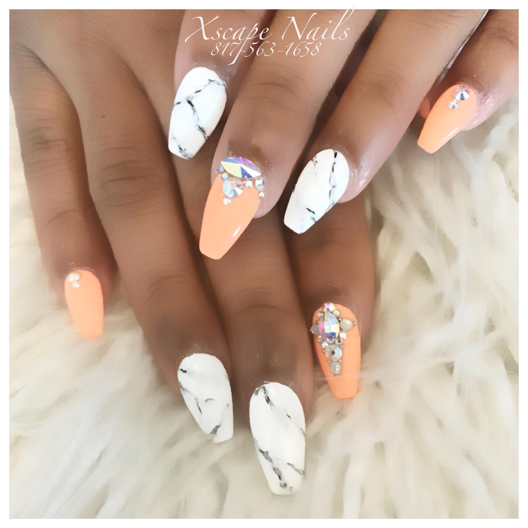 Marble nails   Cute Nails Designs   Pinterest