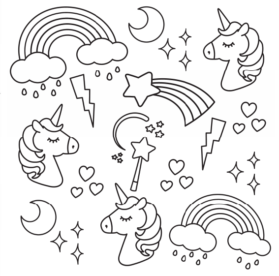 I Heart Unicorns Small Coloring Book Unicorn Coloring Pages Mermaid Coloring Pages Free Coloring Pages