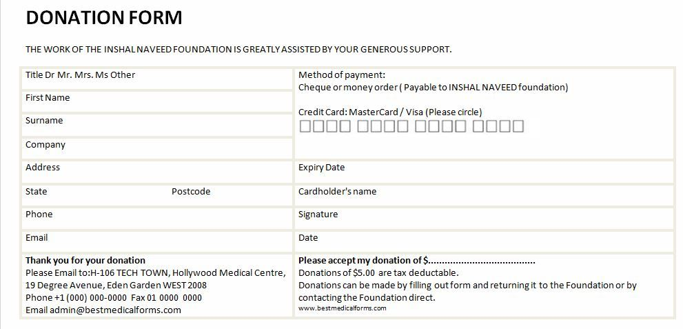 donation form template google search donation form donation