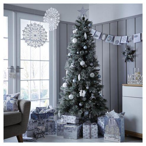 6 5ft Luxury Alpine Snow Christmas Tree Christmas Tree With Snow Holiday Decor Christmas Tree