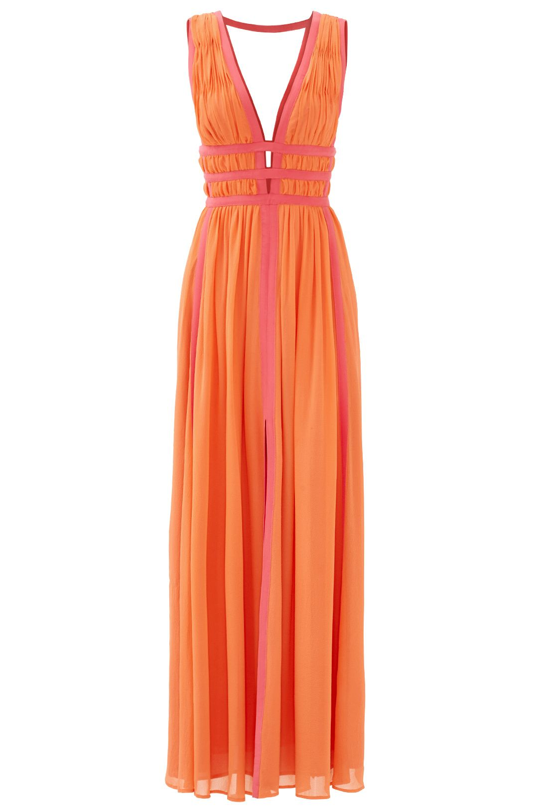 6b3a4dc5ed Rent Sunset Pink Gladiator Gown by Nicole Miller for  85 only at Rent the  Runway.