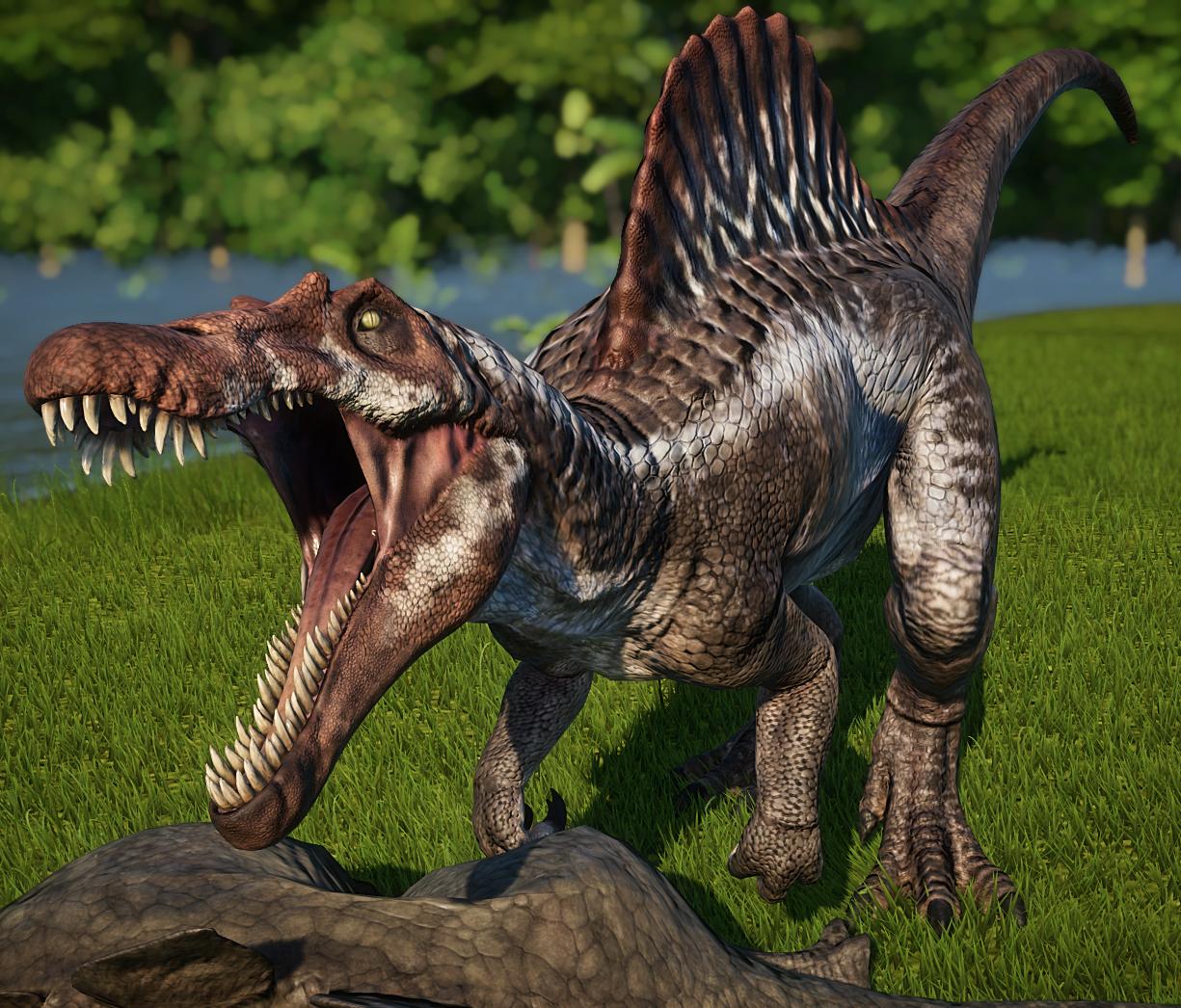 Spinosaurus Jurassic World Evolution Wiki Fandom Powered By Wikia In 2020 Spinosaurus Jurassic World Dinosaurs Jurassic Park World