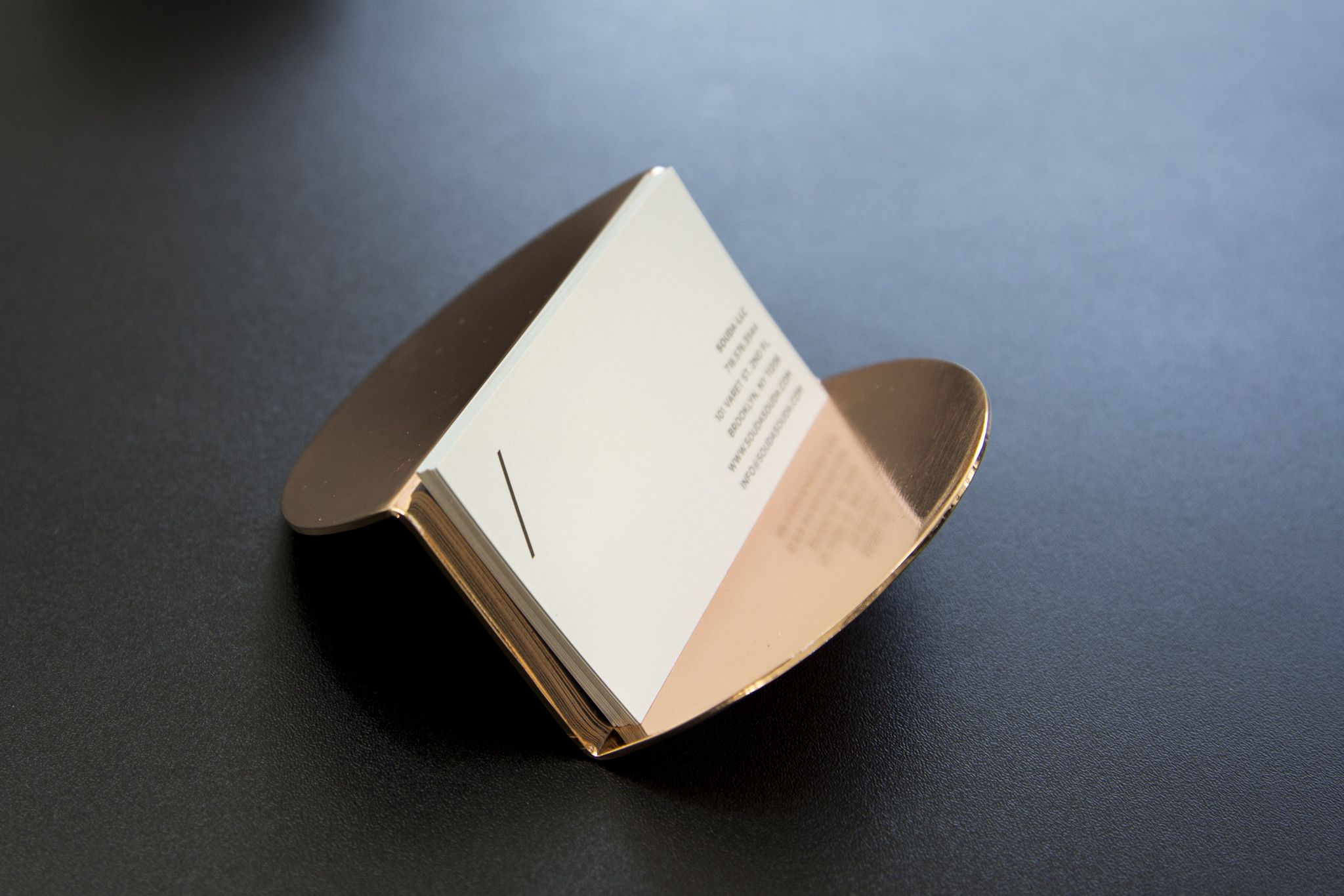 Wave Business Card Holder - Copper | Business card holders ...