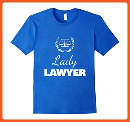 Mens Lady Lawyer Shirt, Law Student Funny Gift XL Royal Blue - Careers professions shirts (*Partner-Link)