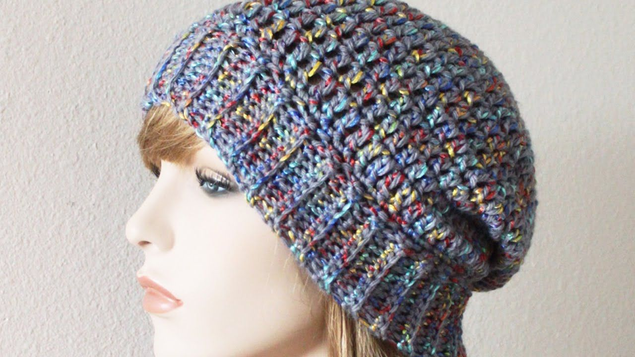 eb72f1f22ae Crochet Tutorial  Add a Ribbed Brim to a Hat in the Round