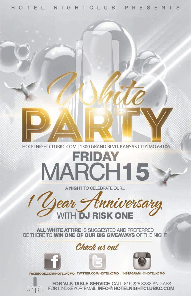 DJ Risk One | 1 Year Anniversary White Party | 2013.03.15 | Hotel ...
