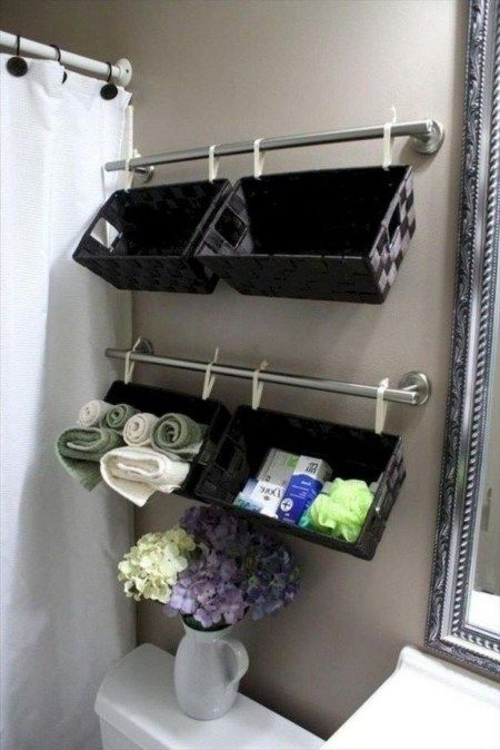 30+ Stunning Bathroom Storage Shelves Organization Ideas