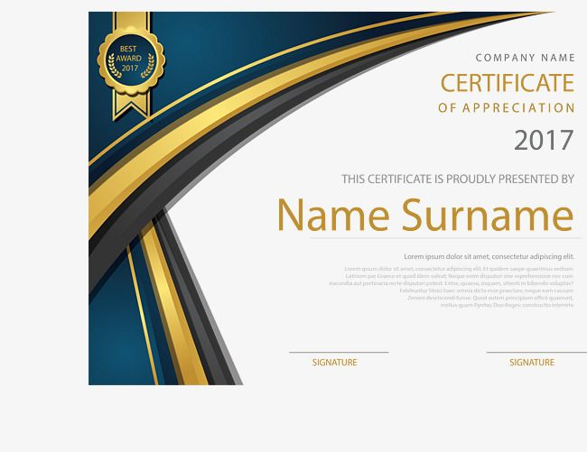 Gold border english certificate certificate template training gold border english certificate certificate template training certificate english certificate png and vector yadclub Images
