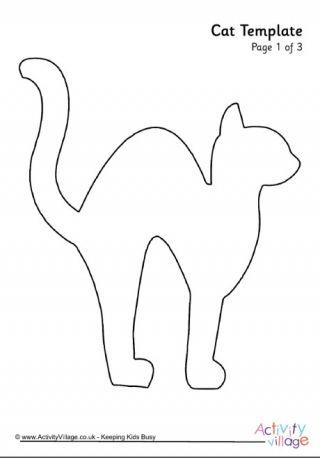 cat template 3 halloween pinterest cat template templates and