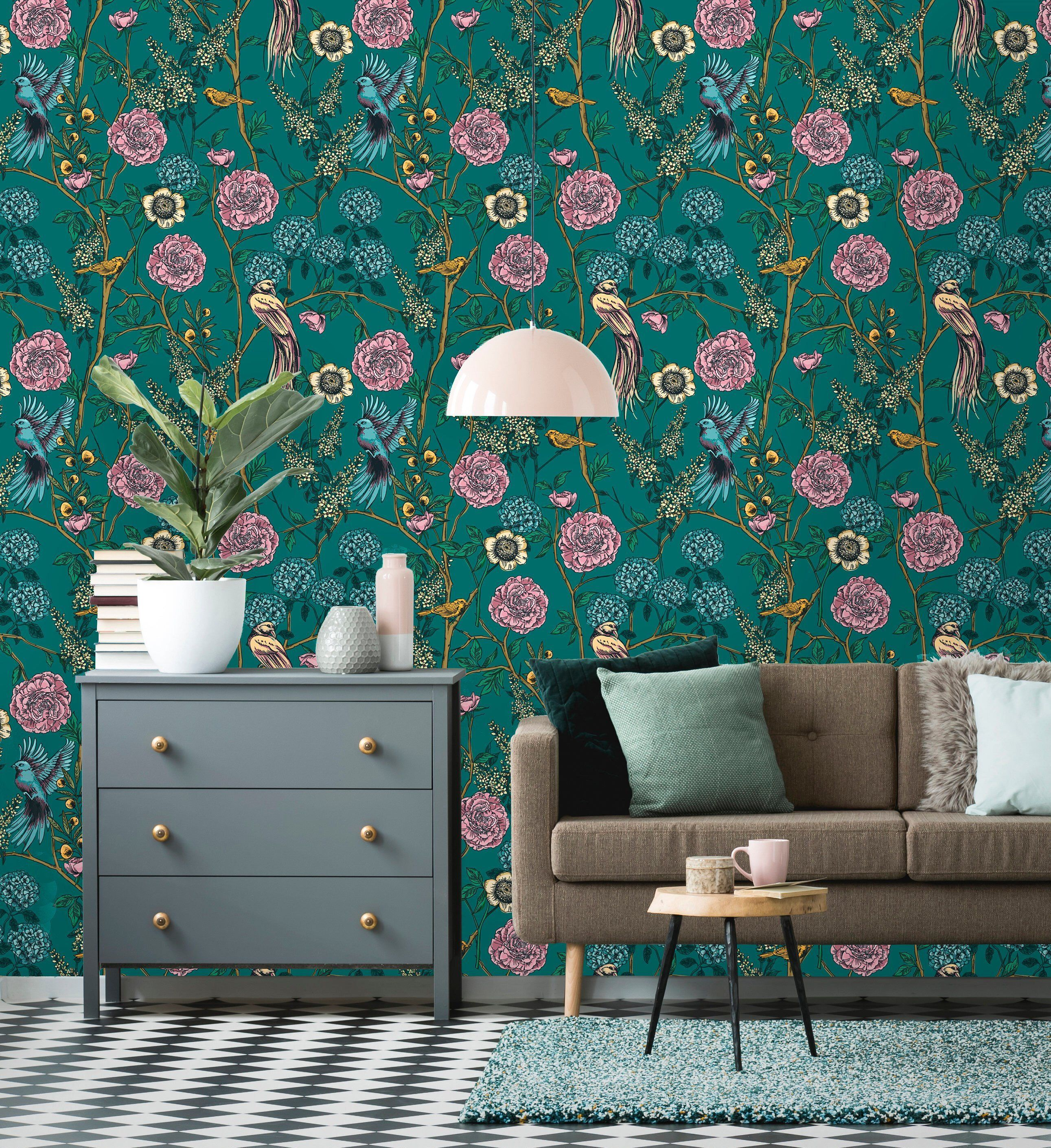Removable Wallpaper Peel and Stick Victorian Garden