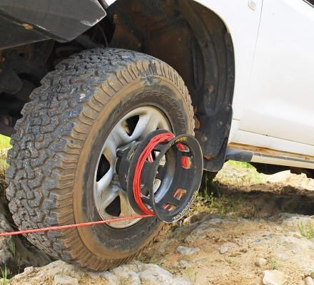 Bush Winch Winch That Attaches To Your Tire Gets You Unstuck Giant Truck 4x4 Accessories Stuck In The Mud